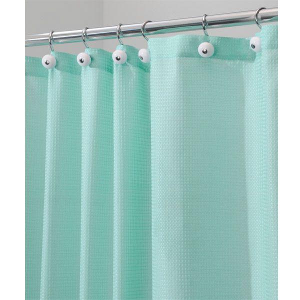 Blue Shower Curtains Carlton Aqua Blue Diamond Weave Fabric