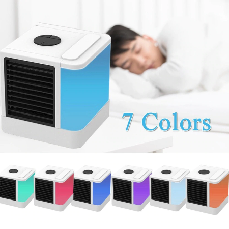 AFFORDABLE PERSONAL MINI AIR CONDITIONER WITH LED COLOR