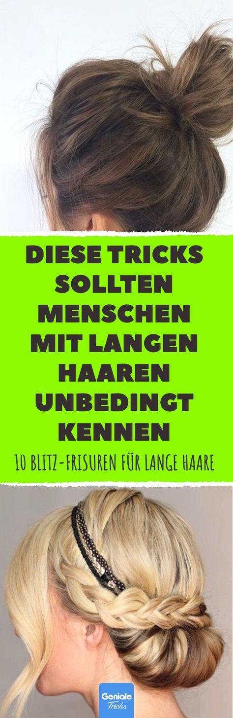 10 Blitz Frisuren Fur Lange Haare Frisuren Lange Haare Anleitung Frisuren Langhaar Lange Haare