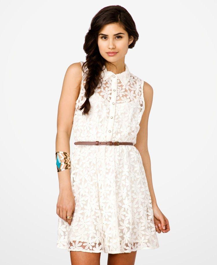 Vestidos blancos casuales bonitos