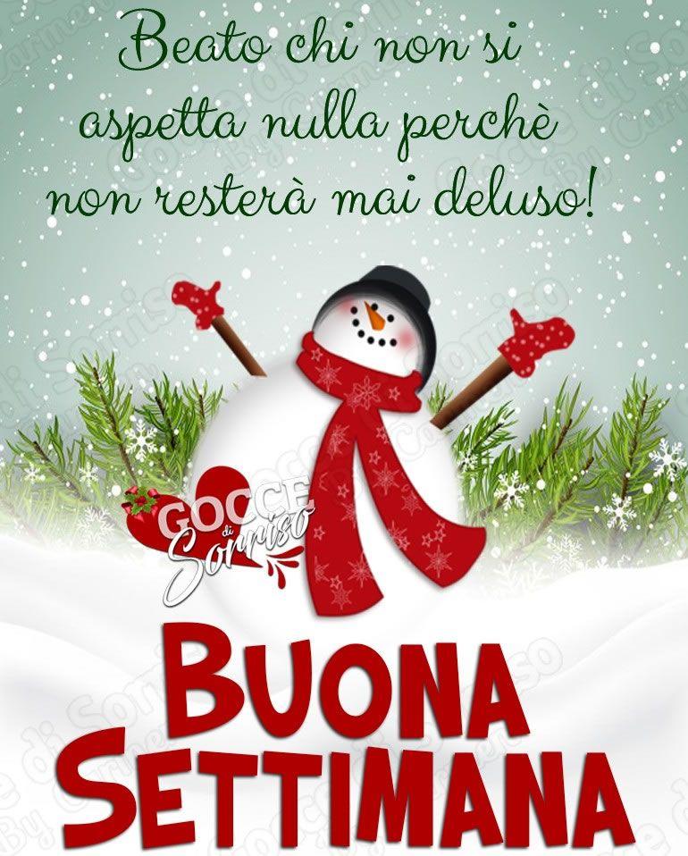 Buona Settimana Buongiorno Parole Di Natale E Immagini
