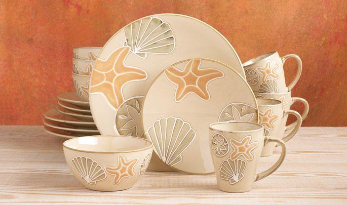 Sandy Shores Dinnerware Serveware Collection Pfaltzgraff