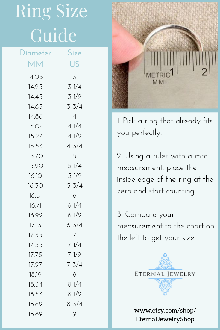 Engagement Ring Size Guide How To Measure Your Ring Size Us Size Chart Measure Ring Size Ring Size Guide Womens Engagement Rings