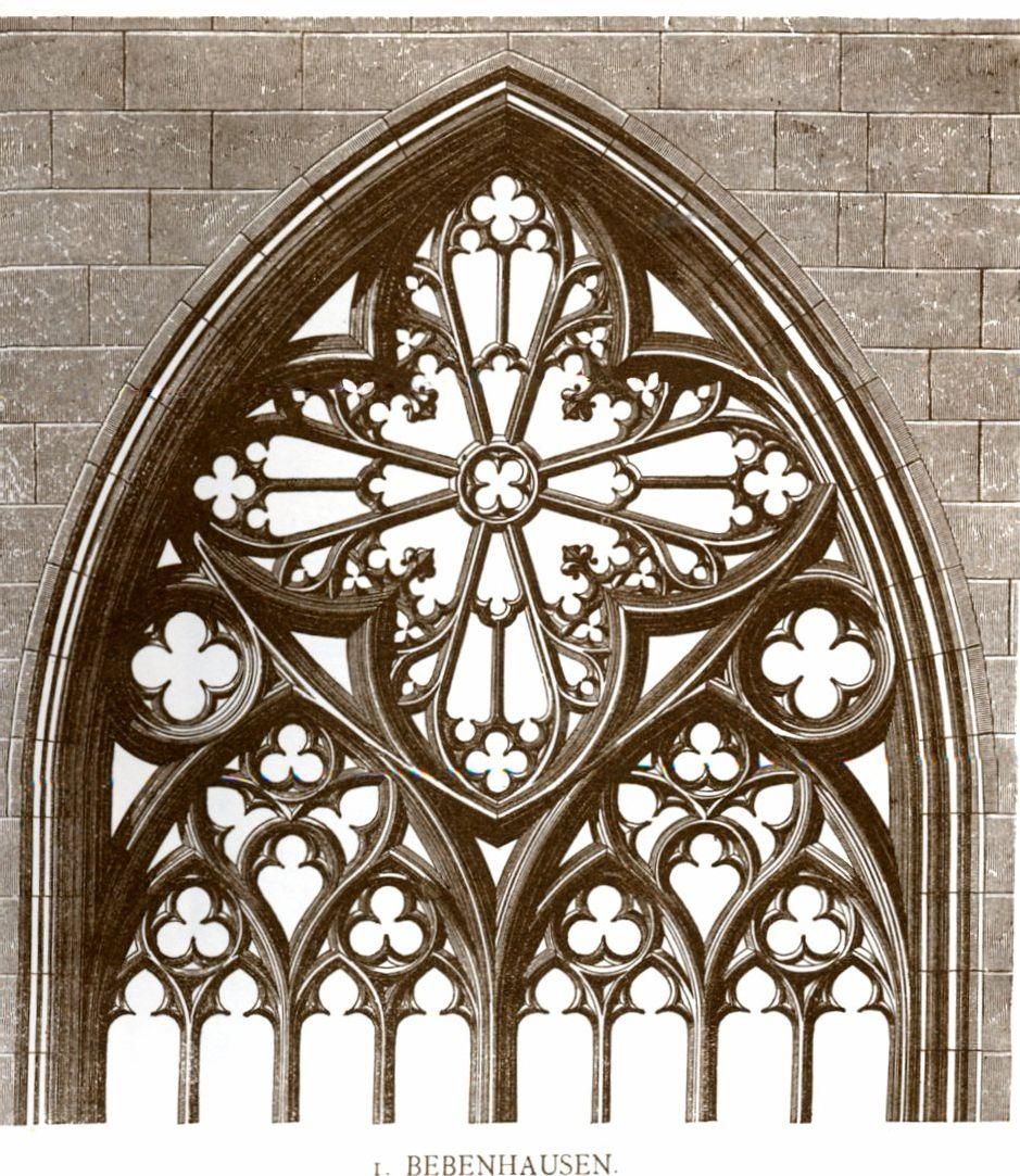 Detail Of A Church Window Bebenhausen