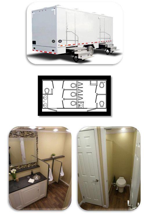 Luxury Restroom Trailers For Rent Portable Toilet Rental Port