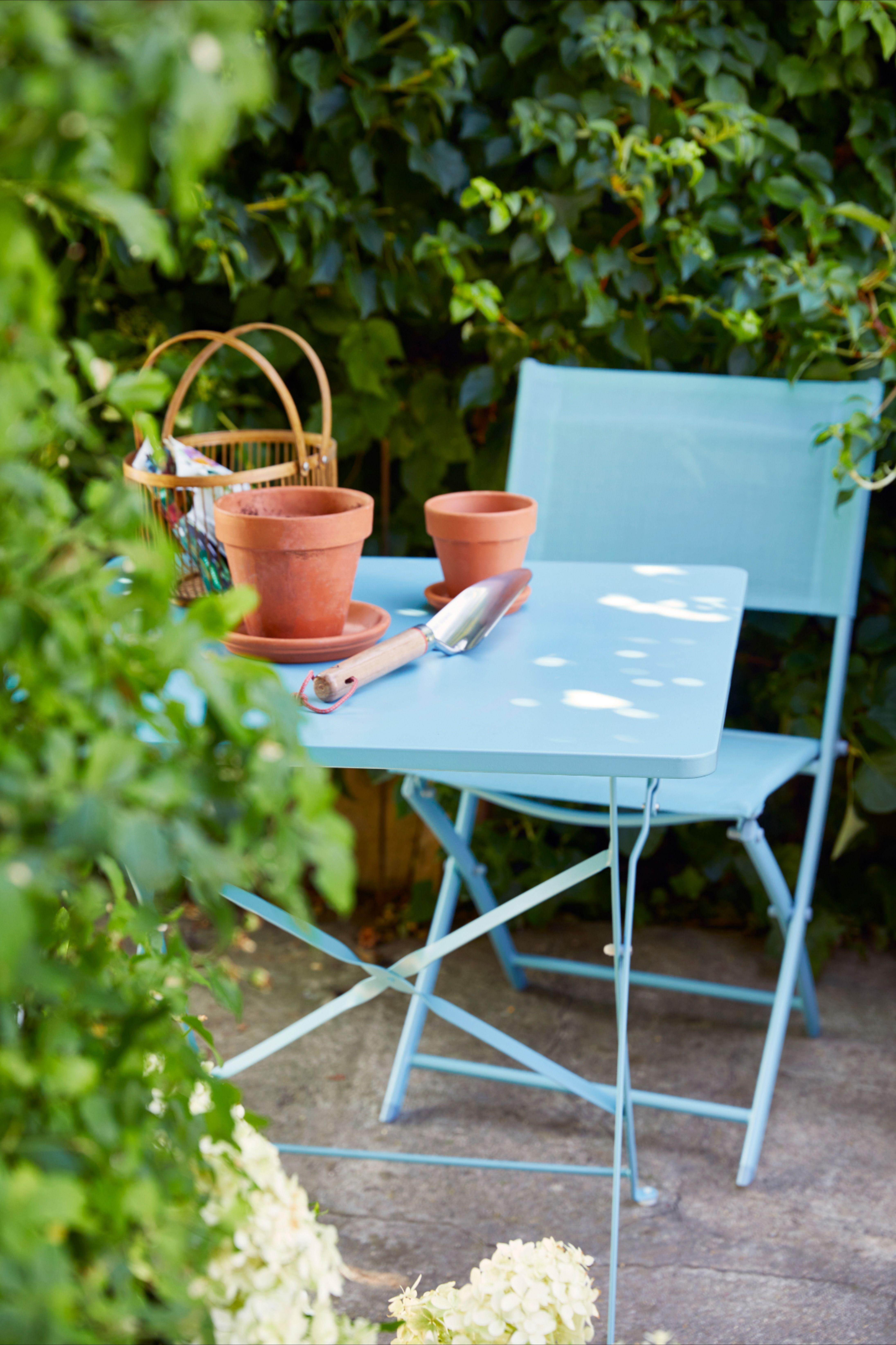Table De Jardin Saba 40 X 40 Cm Bleu Clair En 2020 Avec Images