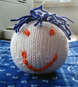 Der Blaue Klaus Fürs Krankenhaus Knitulator Lachbälle Ball