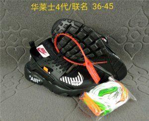 0bb2791f15c3 Mens Womens Nike Air Huarache Ultra Run Off White Triple Black Whtie Running  Shoes