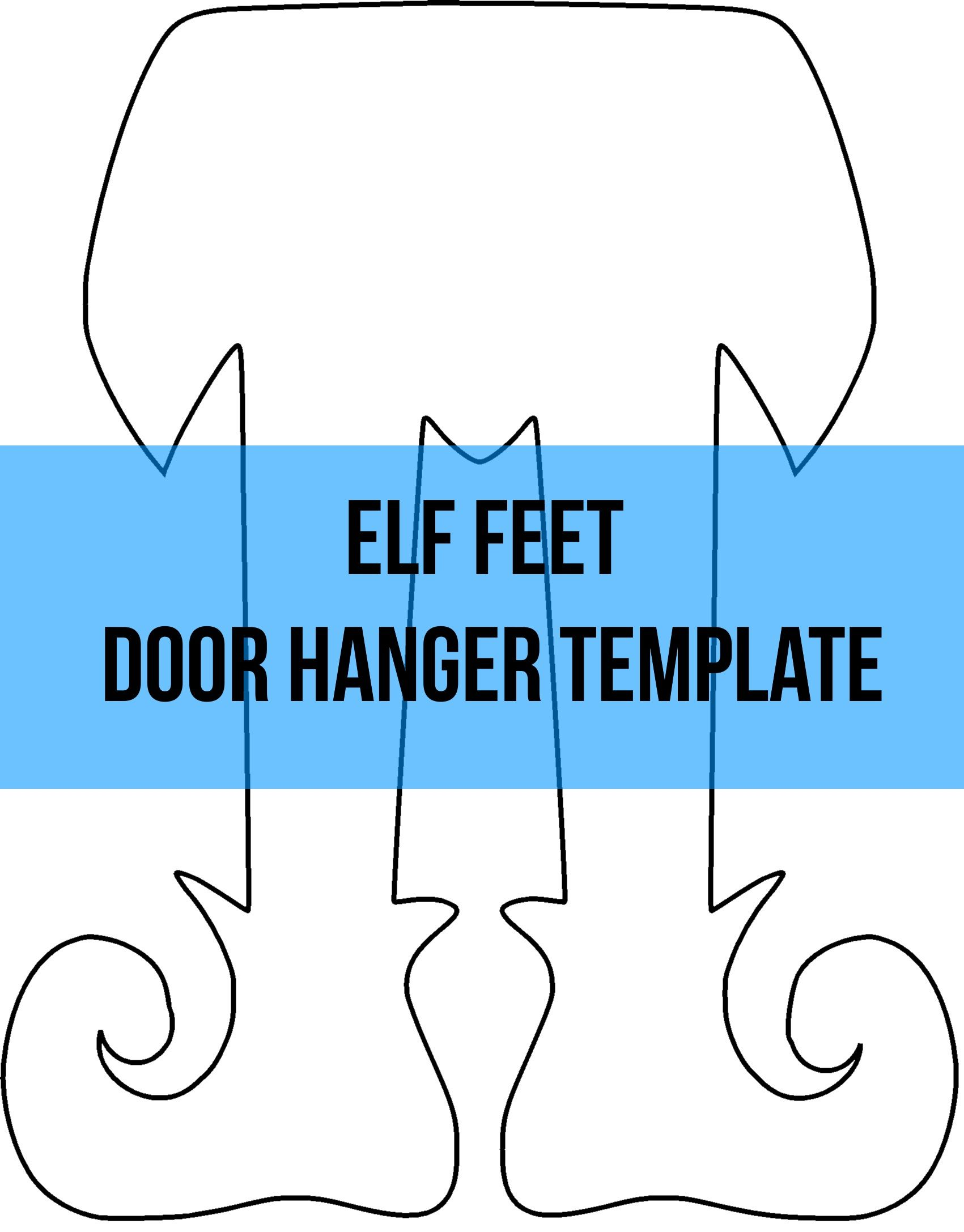 Elf Feet Door Hanger Wreath Attachment Template Door