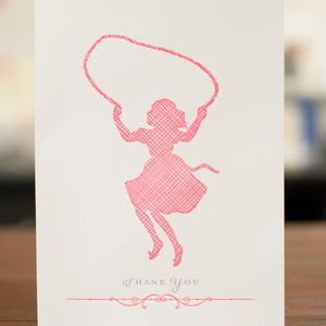 Image of Jumping Silhouette Card