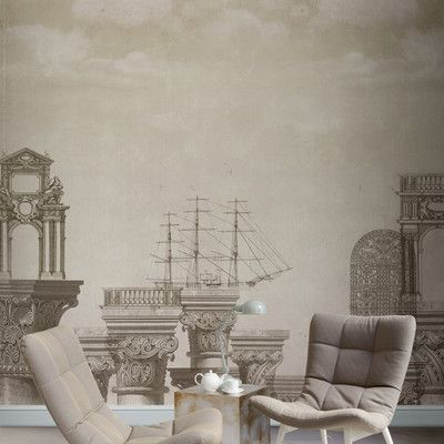 Look what I found on Wayfair! Scenic wallpaper, Wall