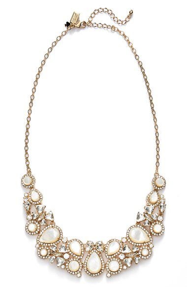 kate spade new york kate spade new york 'butter up' bib necklace available at #Nordstrom