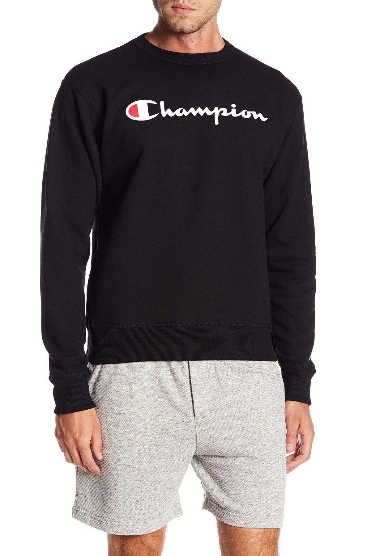 Champion Graphic Powerblend Crew Neck Pullover Nordstrom Rack Crew Neck Sweater Men Long Sleeve Tshirt Men Crew Neck Shirt [ 1800 x 1200 Pixel ]