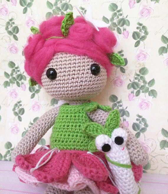 Muñeca de ganchillo Roxy /Crochet doll | Muñecas ganchillo ...