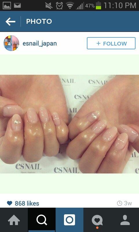 Natural nails diamond