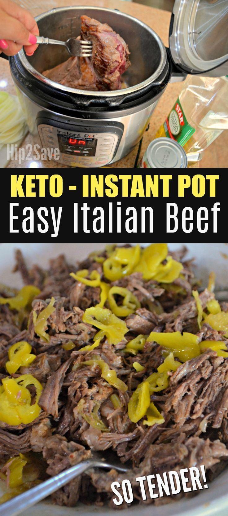 Low Carb Instant Pot Italian Beef Roast #instantpotrecipeseasy