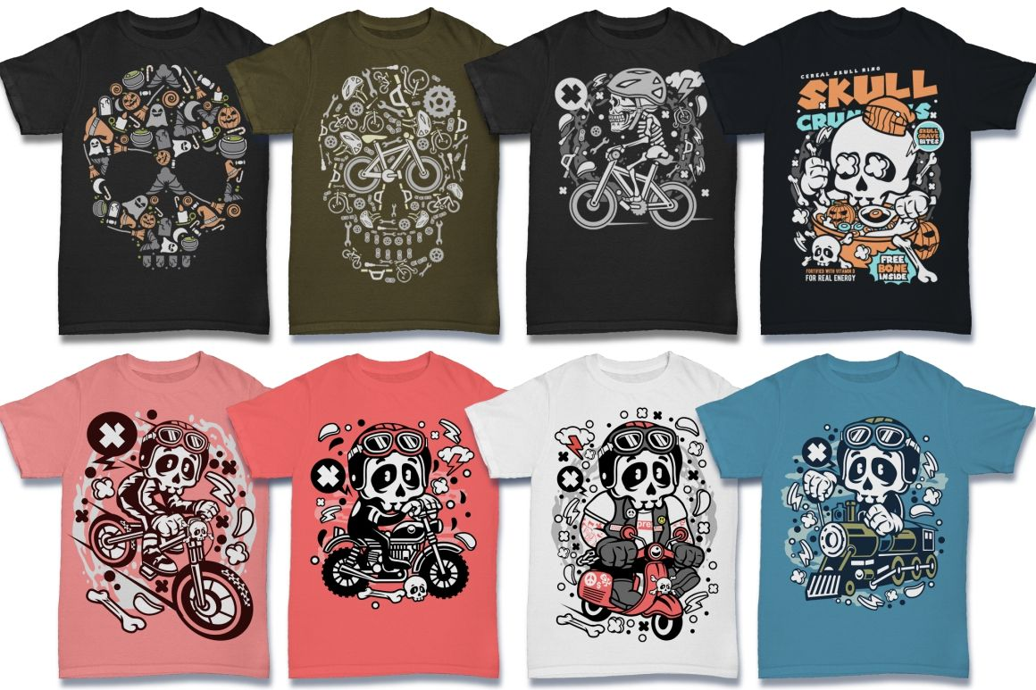 224 Pro Cartoon T Shirt Designs Dealjumbo Com Discounted Design Bundles With Extended License Design Bundles Tshirt Designs Cartoons Vector