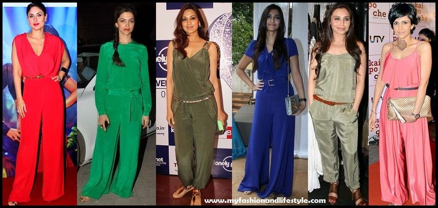 Bollywood Actresses in Jumpsuits | Indian Fashion | Jumpsuit