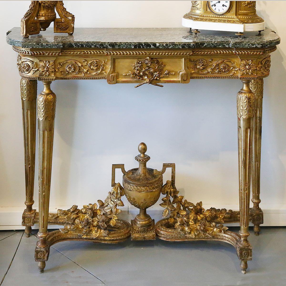 Console en bois dor 1880 console tables neo louis xvi console en bois dor 1880 geotapseo Images