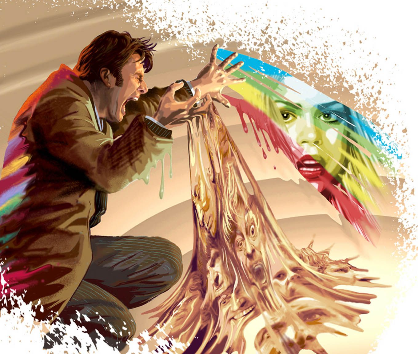 The Doctor And Rose Doctor Who Doctor Who Art 10th Doctor