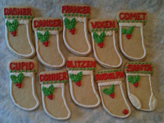 Santa's Stocking Cookies