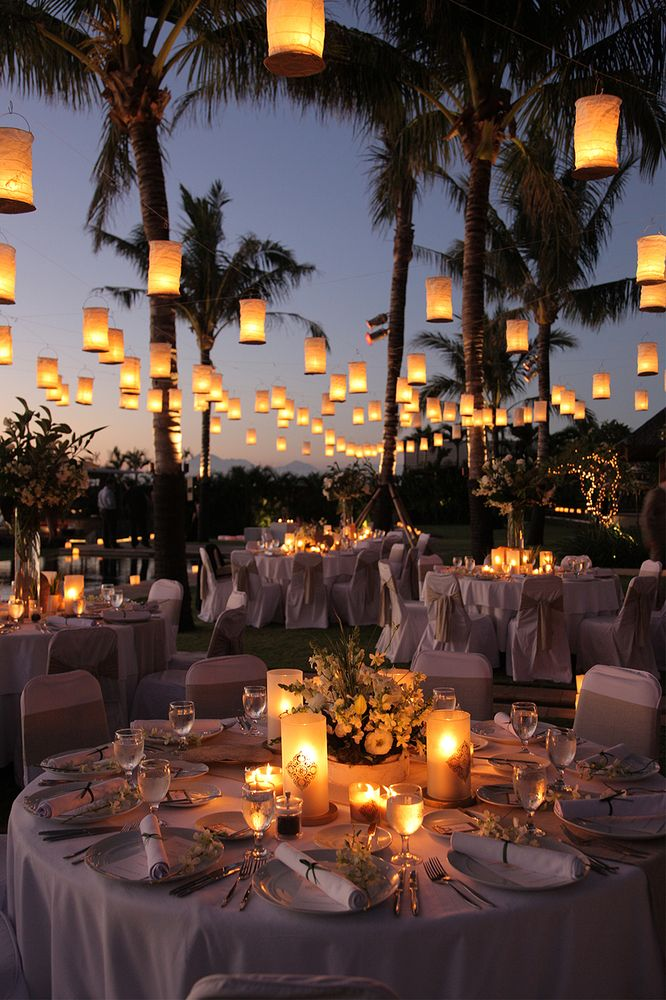 10 Outdoor Wedding Le Lights Decorations