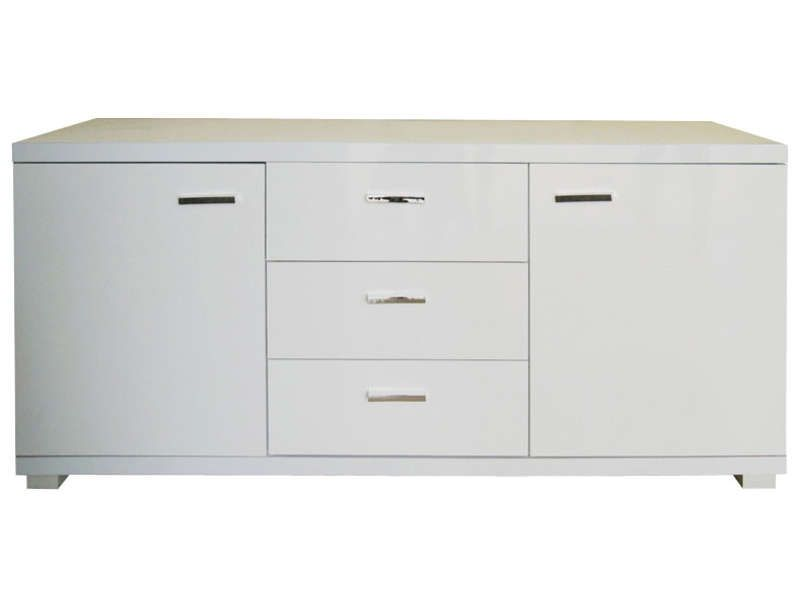 Buffet conforama achat buffet pas cher le buffet 2 for Buffet blanc laque conforama