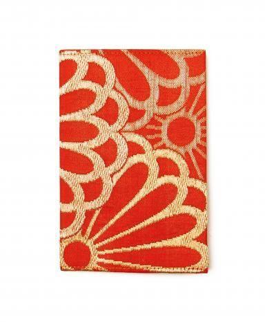 CHAKO, Orange Flower Passport Holder, $68  Mexico - Day Of The Dead