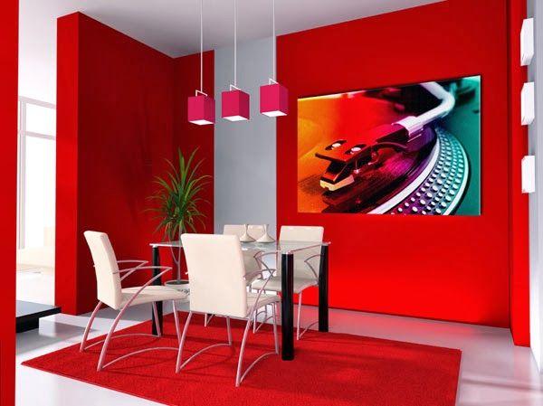 Comedores de color rojo y blanco ideas de decoraci n - Detalles de decoracion para casa ...