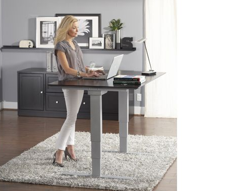 Hydraulic Desk Sit Stand Desk Adjustable Standing Desk Office Sit Stand Desk