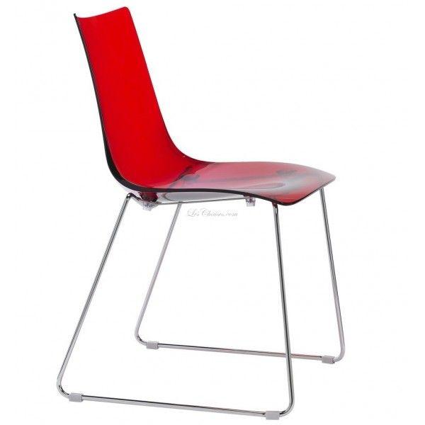Tonnant Chaise Rouge Transparente
