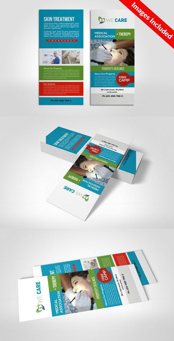 Medical Rack Card Template Medical Infographic  Medical