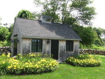 Westport Garden Cottage - rustic - Garage And Shed - Boston - Paul Maue Associates Landscape Architects
