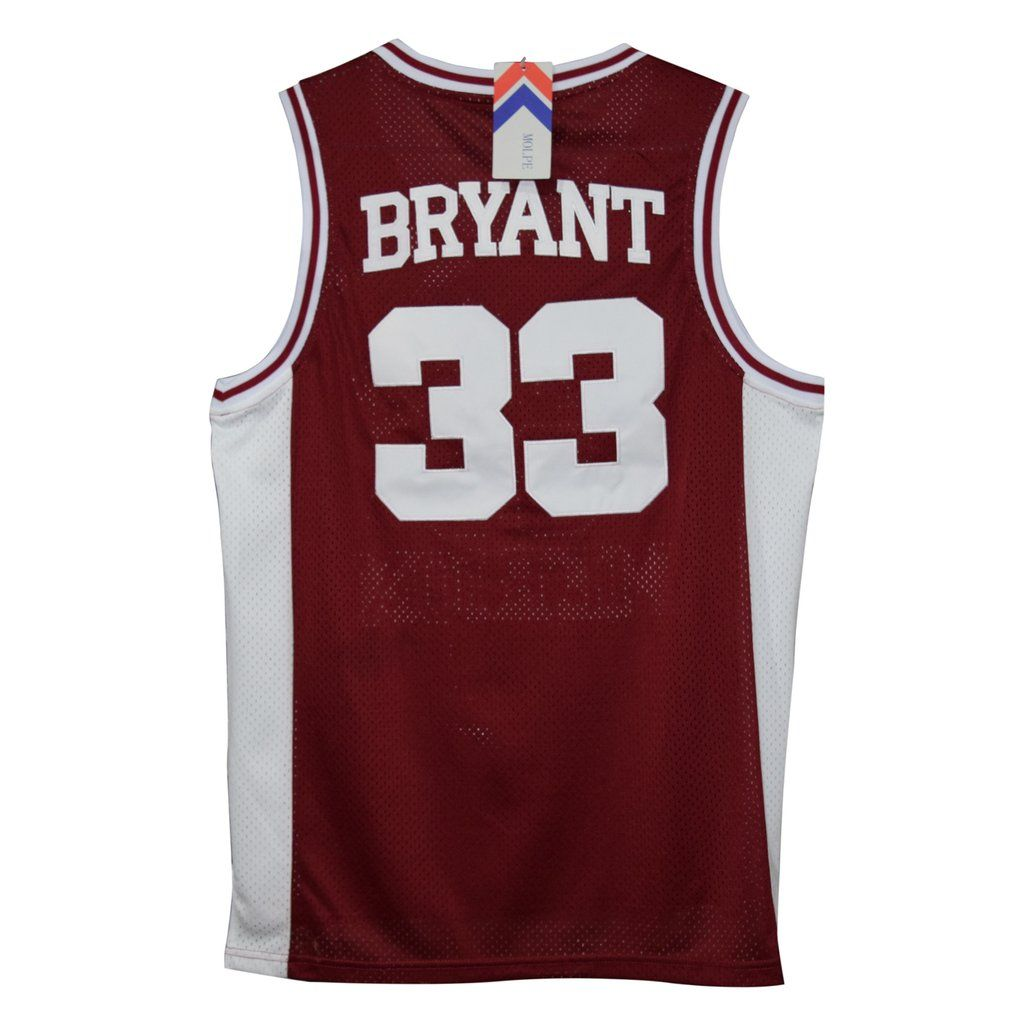 64d3ff81b Kobe Byrant s  33 Lower Merion High School basketball jersey. Stitched name  and numbers. 2 colors available