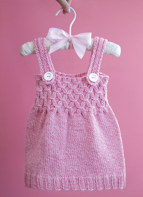 Knitting Instructions For Baby Dress : Baby knit jumper dress with fun pattern i actually know