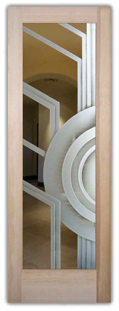 Glass Front Doors Etched Glass Modern Design Art Deco Style
