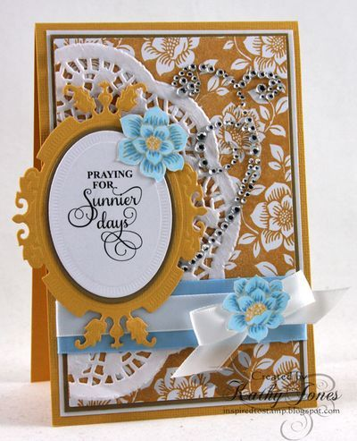 Ornate Corners Clear Stamps and Rose Garden Background Cling Stamp | JustRite Papercraft Inspiration Blog