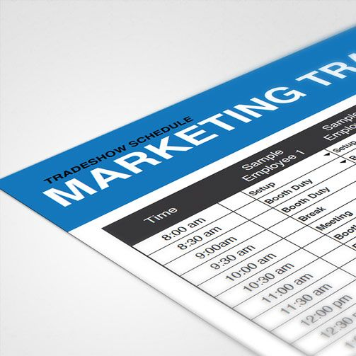 Trade Show Staff Schedule Template  Marketing Resources