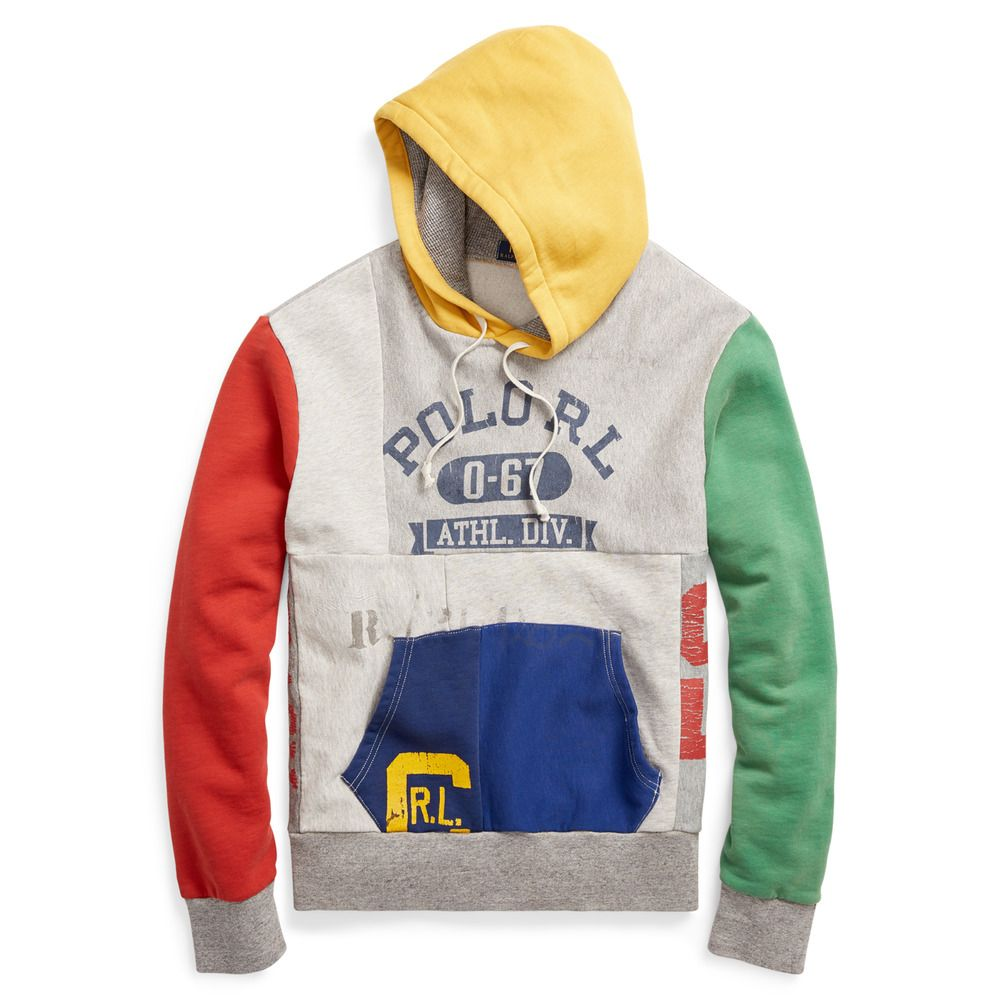 83cf920777e029 Ralph Lauren Polo Limited Edition Patchwork Mashup Fleece Hoodie New (eBay  Link)