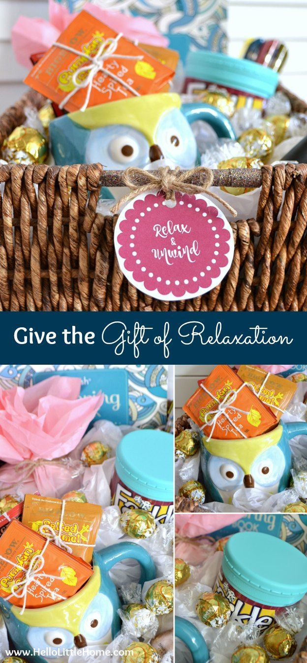 Give The Gift Of Relaxation A Fun DIY Mothers Day Idea Learn How To Make This Awesome Basket With Free Printable Label Thats Filled