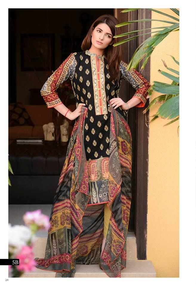 Kalyan Designer Embroidered Collection 2016 by ZS Textiles