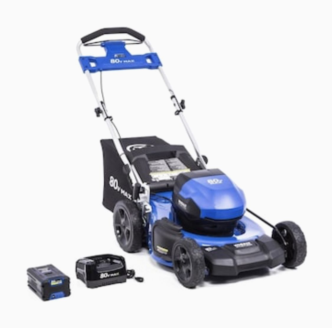 Kobalt 80 Volt Max Brushless Lithium Ion Push 21 In Cordless Electric Lawn Mower Battery Included Lowes Com In 2020 Lawn Mower Battery Lawn Mower Lawn Mower Storage