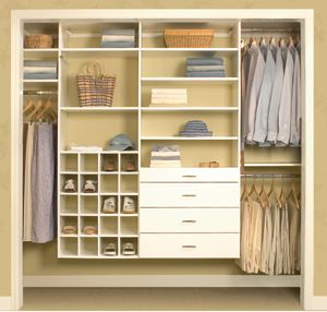 Charmant Wall Hung Systems Attach Directly To Your Closet Wall. These Closet Systems  Provide Open Floor Space And Allows The Area Below Your Clothes To Be Used  For ...