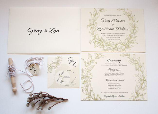 Tuscan Themed Wedding Invitations: Tuscan Wedding Invitation Suite