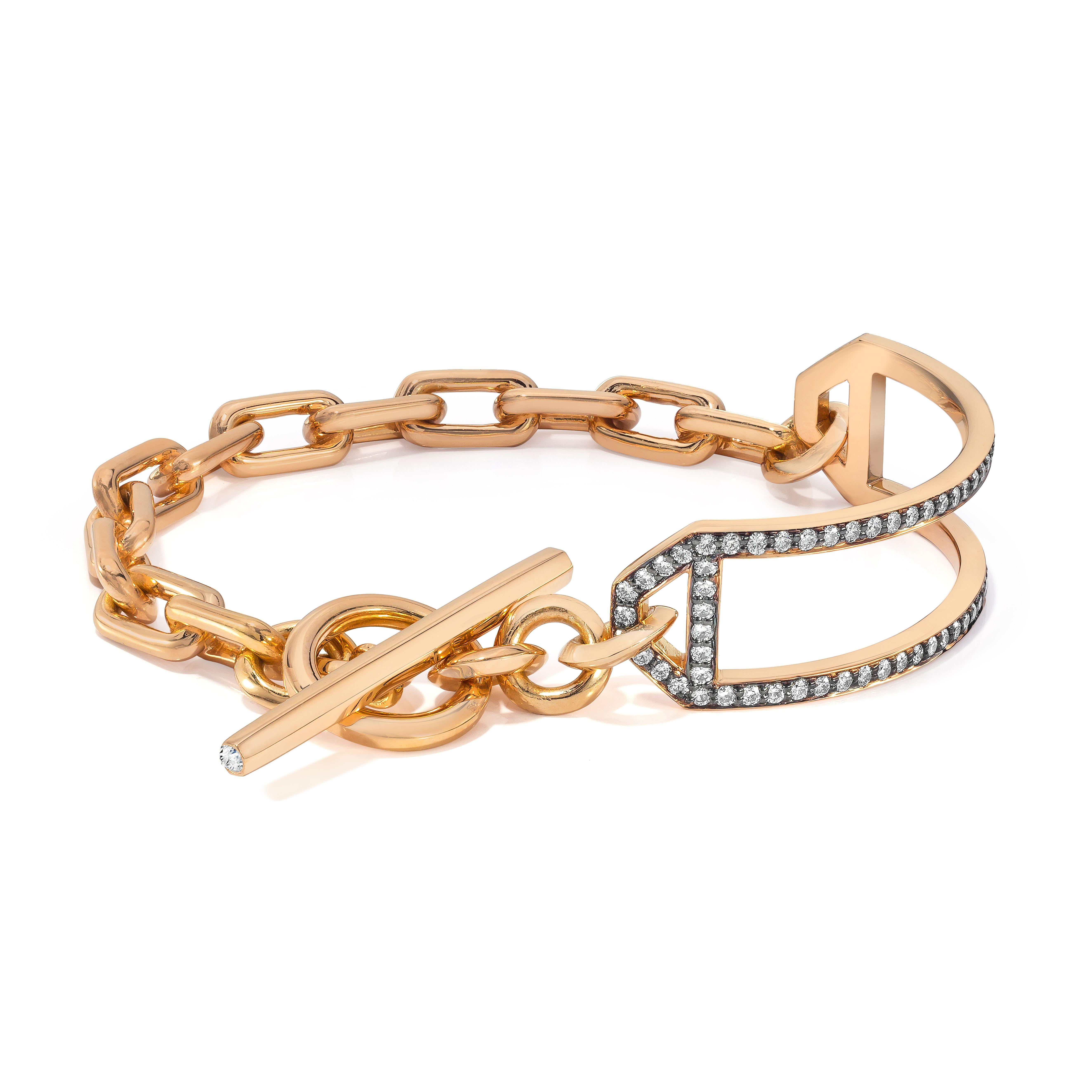 Walters Faith Carrington All Diamond Id Bar With Double Row Chain Bracelet 3s9Kiap