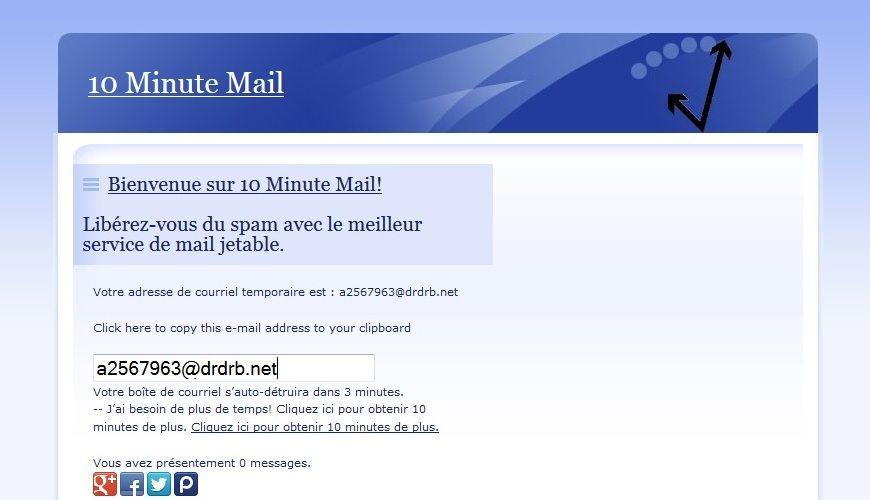 10 minutes mail (avec images) Le web, de