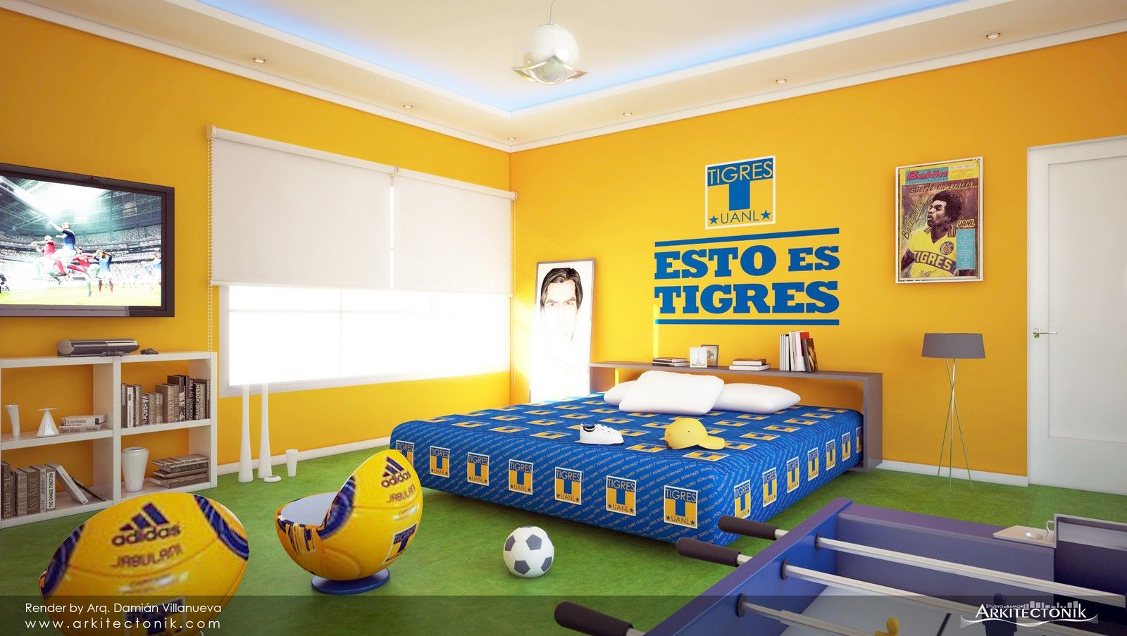 Tigres retro mi equipo pinterest - Decoracion cuarto de estar ...