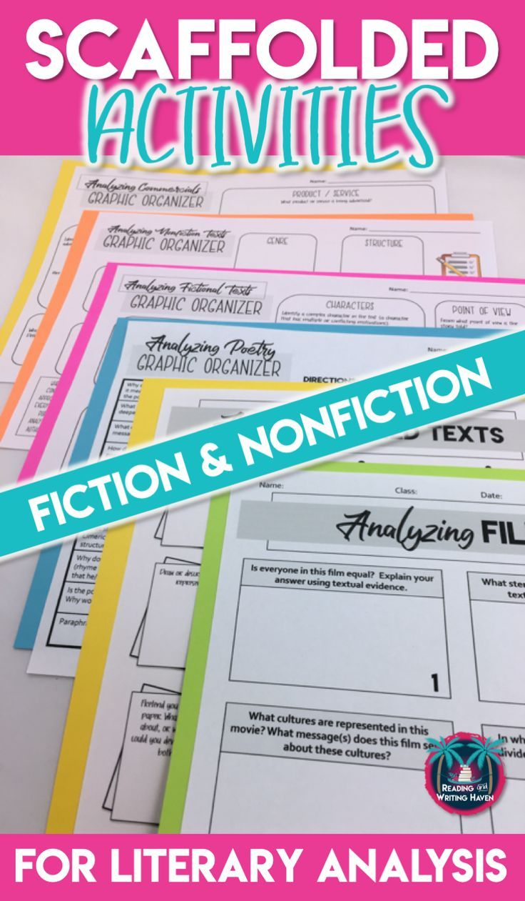 Literary Analysis Analyzing Fiction and Nonfiction Texts