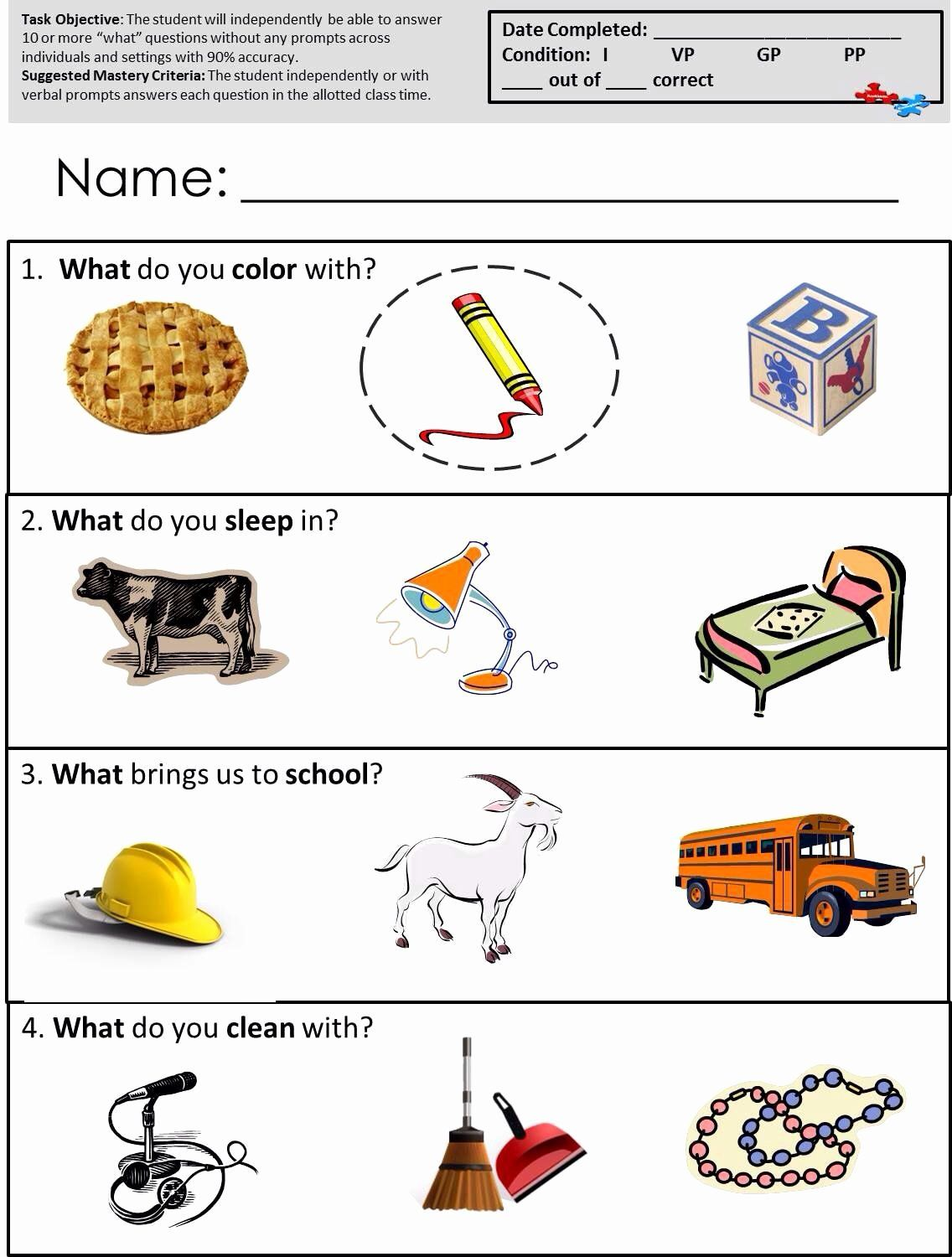 16++ Name that category worksheet Free Download