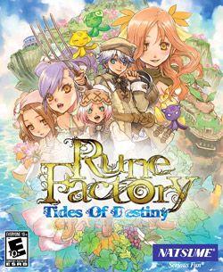 Rune Factory Tides Of Destiny Rune Factory Destiny Video Game Box Art